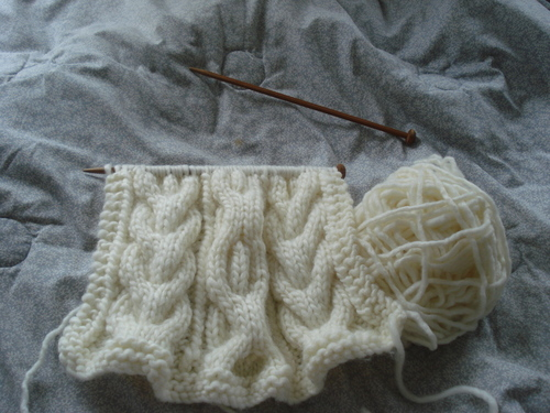 Cable Pillow Knitting