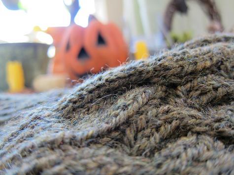 Hat with pumpkin