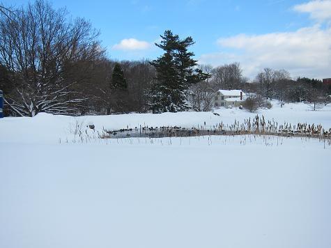 Snow lake sky