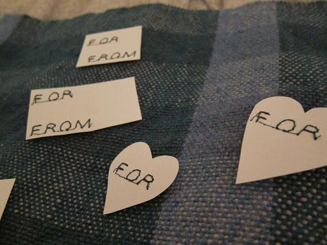 Stitched tags
