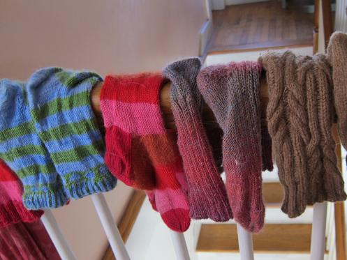 Drying socks